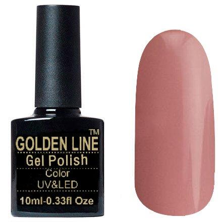 Golden Line, Гель лак - SH28Golden Line<br>Гель-лак бежево-розовый, без блесток и перламутра, плотный<br>