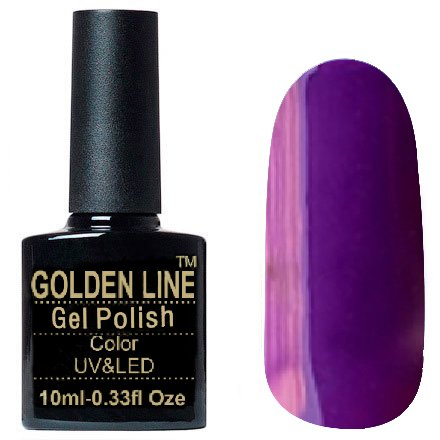 Golden Line, Гель лак - SH33Golden Line<br>Гель-лак фиолетовый, без блесток и перламутра, плотный<br>