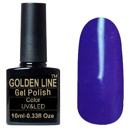 Golden Line, Гель лак - SH34Golden Line<br>Гель-лак тёмно-фиолетовый, без блесток и перламутра, плотный<br>