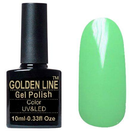 Golden Line, Гель лак - SH39Golden Line<br>Гель-лак салатовый, без блесток и перламутра, плотный<br>