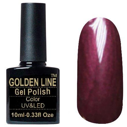 Golden Line, Гель лак - SH41Golden Line<br>Гель-лак красное вино, с перламутром, плотный<br>