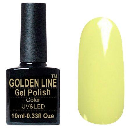Golden Line, Гель лак - SH45Golden Line<br>Гель-лак пастельно жёлтый, без блесток и перламутра, плотный<br>