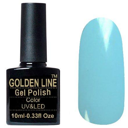 Golden Line, Гель лак - SH46Golden Line<br>Гель-лак пастельно голубой, без блесток и перламутра, плотный<br>
