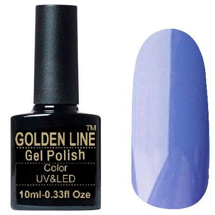Golden Line, Гель лак - SH50Golden Line<br>Гель-лак пастельно синий, без блесток и перламутра, плотный<br>