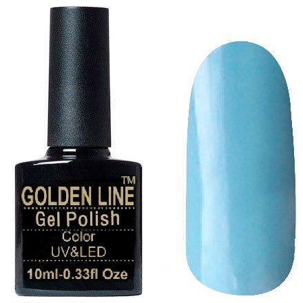 Golden Line, Гель лак - SH51Golden Line<br>Гель-лак пастельно голубой, без блесток и перламутра, плотный<br>