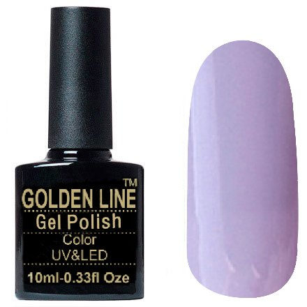 Golden Line, Гель лак - SH55Golden Line<br>Гель-лак пастельно-лиловый, без блесток и перламутра, плотный<br>