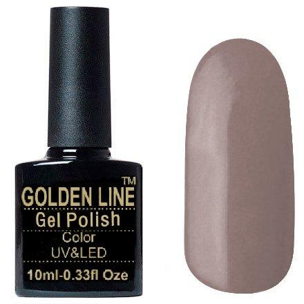Golden Line, Гель лак - SH58Golden Line<br>Гель-лак серо-бежевый, без блесток и перламутра, плотный<br>