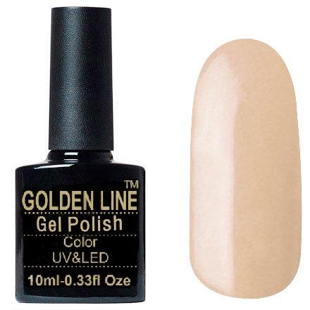 Golden Line, Гель лак - SH59Golden Line<br>Гель-лак бежевый, без блесток и перламутра, плотный<br>