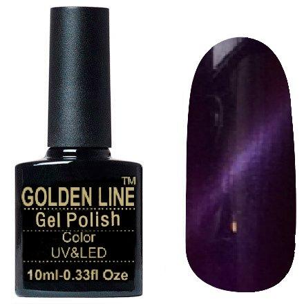 Golden Line, Гель лак - Cat Eyes 01Golden Line<br>Гель-лак кошачий глаз, фиолетовый перламутр, плотный<br>