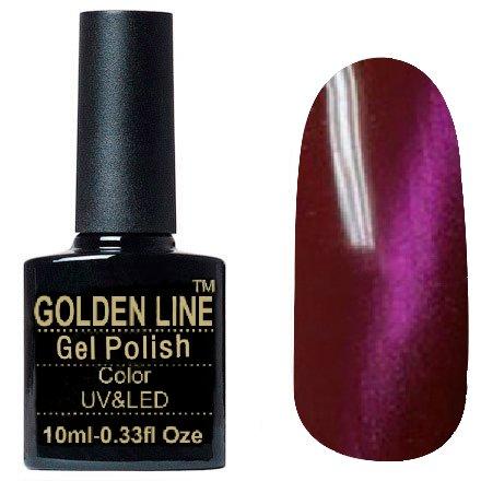 Golden Line, Гель лак - Cat Eyes 03Golden Line<br>Гель-лак кошачий глаз, малиновый перламутр, плотный<br>