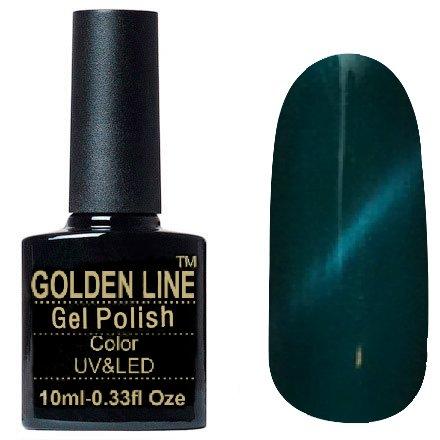 Golden Line, Гель лак - Cat Eyes 07Golden Line<br>Гель-лак кошачий глаз, темно-бирюзовыйперламутр, плотный<br>