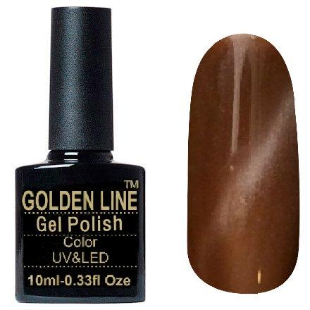 Golden Line, Гель лак - Cat Eyes 14Golden Line<br>Гель-лак кошачий глаз, молочный шоколад с перламутром, плотный<br>