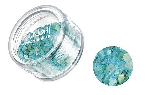ruNail, Дизайн для ногтей: ракушки (ярко-голубой с прозеленью), CREL008Ракушки<br><br>
