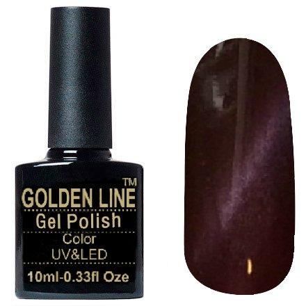 Golden Line, Гель лак - Cat Eyes 20Golden Line<br>Гель-лак кошачий глаз, бордово-коричневыйс перламутром, плотный<br>