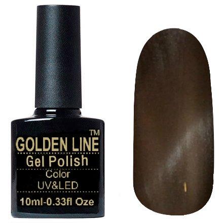 Golden Line, Гель лак - Cat Eyes 23Golden Line<br>Гель-лак кошачий глаз, коричнево-бежевый с перламутром, плотный<br>