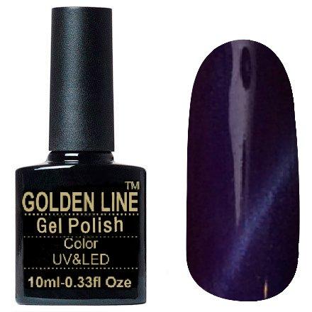Golden Line, Гель лак - Cat Eyes 24Golden Line<br>Гель-лак кошачий глаз, фиолетово-васильковыйс перламутром, плотный<br>