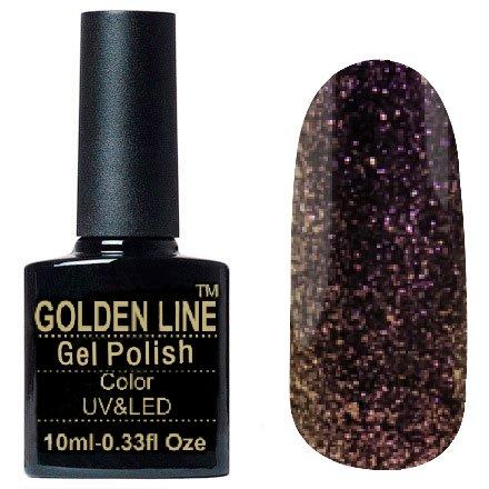 Golden Line, Гель лак - Prisma 05Golden Line<br>Гель-лак полупрозрачный, с розово-золотистым мерцанием<br>