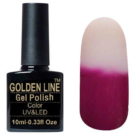 Golden Line, Гель лак - Thermo 05Golden Line<br>Термо гель-лак,тёмно-свекольный/прозрачный, плотный<br>