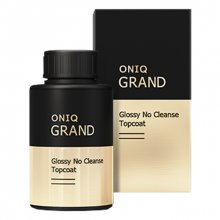 ONIQ, Grand Glossy No Cleanse Topcoat - Глянцевое финишное покрытие для гель-лака OGPL-911 (30 мл.)