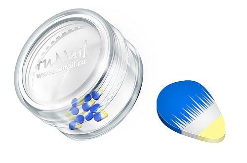 ruNail, Дизайн для ногтей: Резиновые аппликации (фигурки, сине-желтые), FIMO002 (RuNail (Россия))
