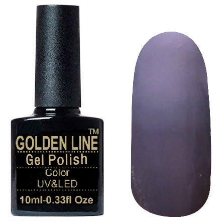 Golden Line, Гель лак - Thermo 15Golden Line<br>Термо гель-лак, дымчато-лиловый/светлый серо-лиловый, плотный<br>