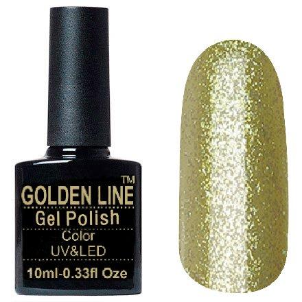 Golden Line, Гель лак - Luxury BS 321Golden Line<br>Гель-лак с большим количеством плотных глиттерных золотых блесток<br>