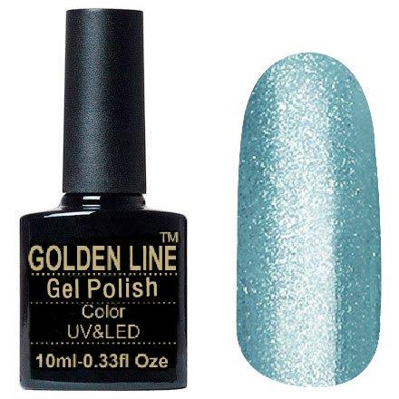 Golden Line, Гель лак - Luxury BS 323Golden Line<br>Гель-лак с большим количеством плотных глиттерных голубых и серебряных блесток<br>
