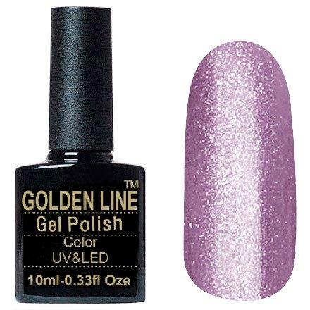 Golden Line, Гель лак - Luxury BS 324Golden Line<br>Гель-лак с большим количеством плотных глиттерных розовых и серебряных блесток<br>