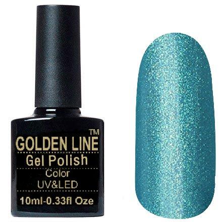 Golden Line, Гель лак - BS 333Golden Line<br>Гель-лак темно бирюзовый, с микрошиммером, плотный<br>