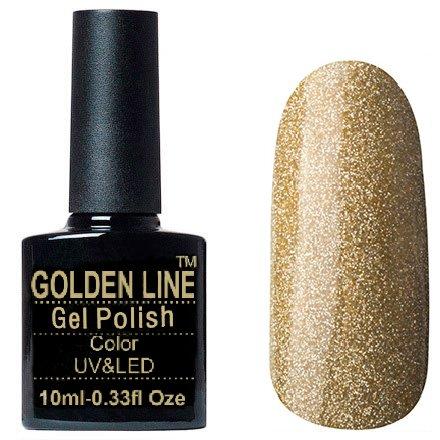Golden Line, Гель лак - BS 334Golden Line<br>Гель-лак золотой голографический шиммер, плотный<br>