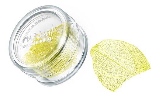 ruNail, Дизайн для ногтей: сухие листья (лимонный), DRWS003Сухие листья<br>Сухие листья подходят для внутреннего дизайна при моделировании ногтей акрилом и гелем.<br>