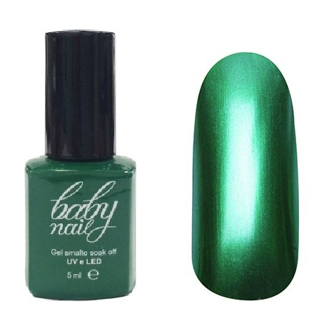 Golden Line, Гель лак - Baby Nails (металл - зелёный, 5мл.)Golden Line<br>Гель-лак с металлическим эффектом, зелёный, матовый, плотный.Полимеризуется только в УФ лампах<br>