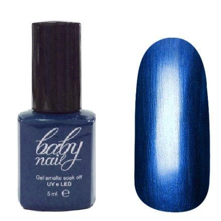 Golden Line, Гель лак - Baby Nails (металл - синий, 5мл.)Golden Line<br>Гель-лак с металлическим эффектом, синий, матовый, плотный.Полимеризуется только в УФ лампах<br>