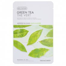 The Face Shop, Real Nature Green Tea Face Mask - Тканевая маска для лица с экстрактом зеленого чая (20 гр.)