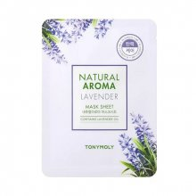 TONY MOLY, Natural Aroma Lavander Mask Sheet - Тканевая маска для упругости лица с маслом лаванды (21 гр.)