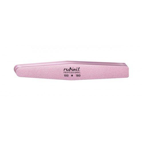 ruNail, Шлифовщик (универсальный, розовый, ромб, 100х180)Полировщики и баффы<br>Универсальный розовый полировщик Runail предназначен для полировки как натуральных, так и искусственных ногтей.<br>