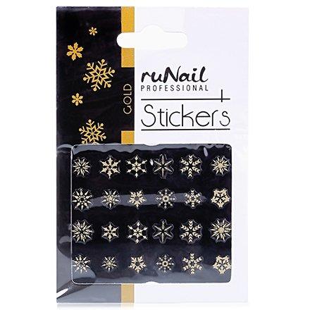 ruNail, Наклейки для дизайна ногтей №2080Наклейки для дизайна ногтей<br>Самоклеящиеся новогодние наклейки для дизайна ногтей.<br>