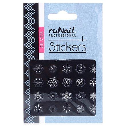 ruNail, Наклейки для дизайна ногтей №2081Наклейки для дизайна ногтей<br>Самоклеящиеся новогодние наклейки для дизайна ногтей.<br>