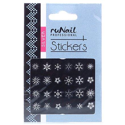 ruNail, Наклейки для дизайна ногтей №2083Наклейки для дизайна ногтей<br>Самоклеящиеся новогодние наклейки для дизайна ногтей.<br>