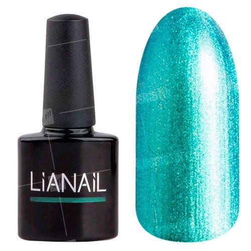 Lianail, Гель-лак с эффектом хамелеон - Полный экстрим MTSO-059 (10 мл.)Lianail<br>Гель-лак с эффектом хамелеон,искрящийся бирюзовый оттенок, переходящий в золотисто-зеленый с ноткой блестящего синего, плотный<br>