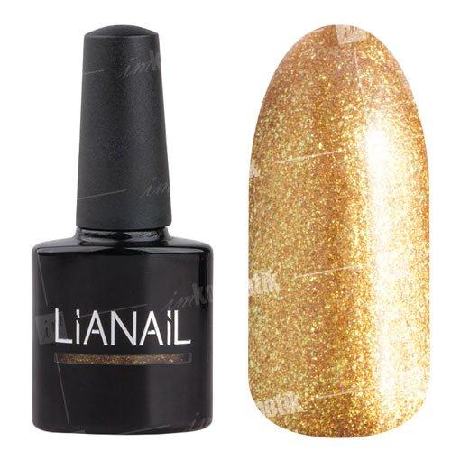 Lianail, Гель-лак c микроблеском - Алчность MTSO-062 (10 мл.)Lianail<br>Гель-лак с микроблеском, золотой,плотный<br>