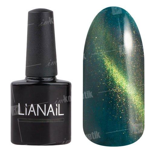 Lianail, Гель-лак эффект кошачий глаз - Серафина CESO-014 (10 мл.)Lianail<br>Гель-лаккошачий глаз, бирюзово-зеленый оттенок, сзолотистым переливом, плотный<br>
