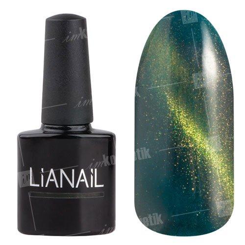 Lianail, Гель-лак эффект кошачий глаз - Аннабель CESO-015 (10 мл.)Lianail<br>Гель-лаккошачий глаз, яркий травяной оттенк, сзолотистым переливом, плотный<br>