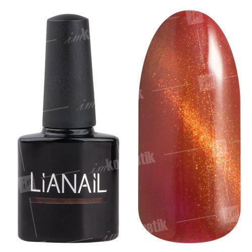 Lianail, Гель-лак эффект кошачий глаз - Рубарб CESO-017 (10 мл.)Lianail<br>Гель-лаккошачий глаз, рыжийоттенок, сзолотистым переливом, плотный<br>