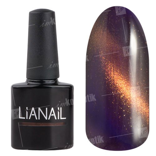 Lianail, Гель-лак эффект кошачий глаз - Далила CESO-018 (10 мл.)Lianail<br>Гель-лаккошачий глаз, глубокий темно-сиреневый оттенок, сзолотистым переливом, плотный<br>
