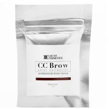 Lucas` Cosmetics, Хна для бровей CC Brow (dark brown) в саше (темно-коричневый, 10 гр.)
