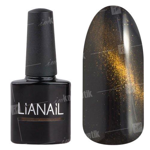 Lianail, Гель-лак эффект кошачий глаз - Джилл CESO-019 (10 мл.)Lianail<br>Гель-лаккошачий глаз, насыщенный черный цвет, сзолотистым переливом, плотный<br>