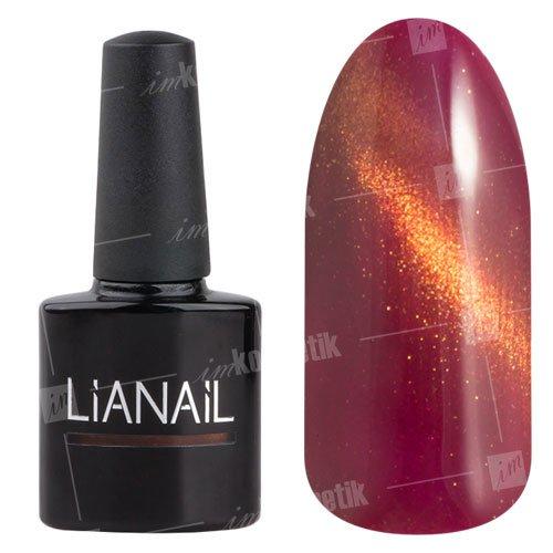 Lianail, Гель-лак эффект кошачий глаз - Красти CESO-020 (10 мл.)Lianail<br>Гель-лаккошачий глаз, темно-красный оттенок, сзолотистым переливом, плотный<br>