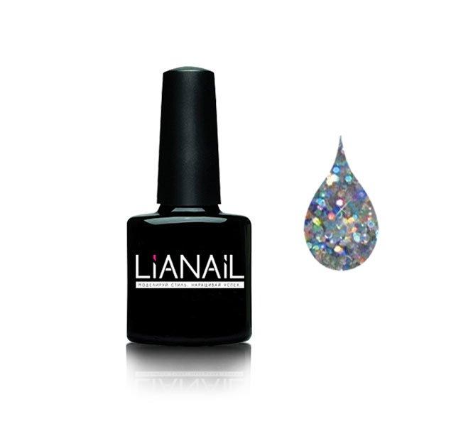 Lianail, Гель-лак c блестками - Праздничное конфетти GTSO-01 (10 мл.)Lianail<br>Гель-лак полупрозрачный с блестками<br>