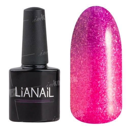 Lianail, Гель-лак эффект термо с блеском - Счастье GTSO-06 (10 мл.)Lianail<br>Гель-лак эффект термо, отсдержанного темно-сиреневого к лучистому розовому цвету и искрит золотыми блестками, плотный<br>